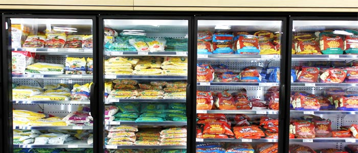 freezer full of process foods to avoid