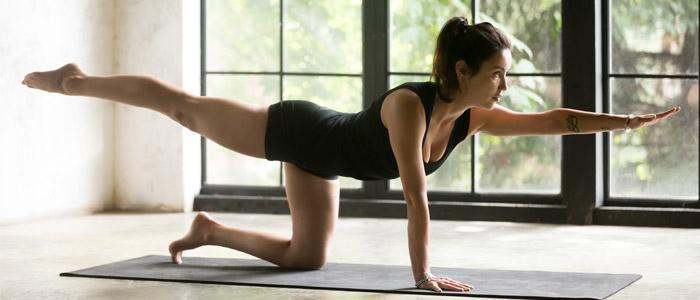 Person doing yoga pose