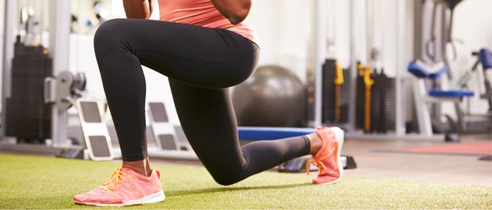 Person doing lunges
