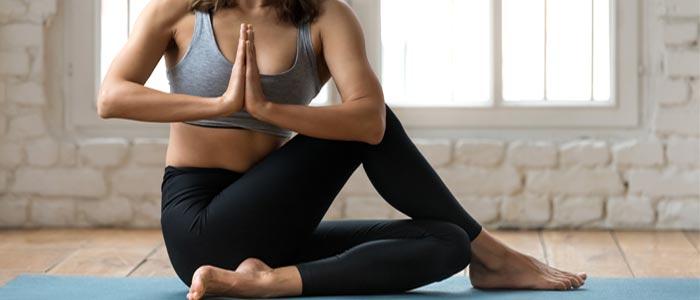 person doing yoga