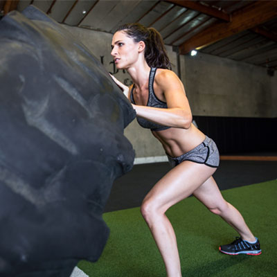 Person using functional strength training