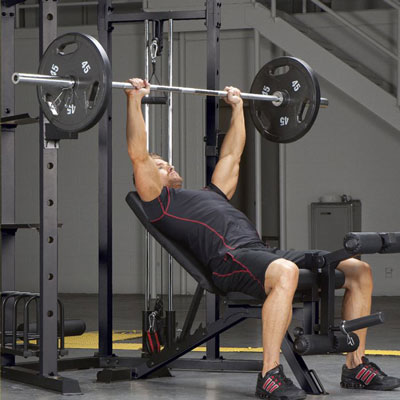Person using a power rack