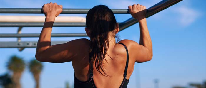 Person doing pull ups