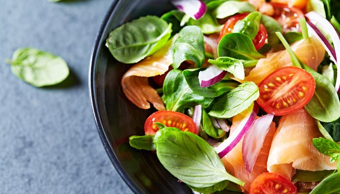 healthy snack - mixed salad