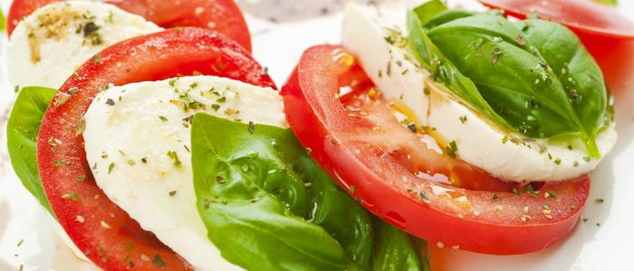 healthy snack - caprese salad