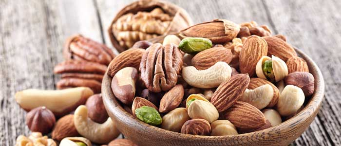 A bowl of nuts for healthy fat