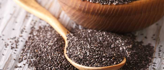 Close up of chia seeds