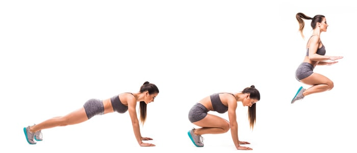 stages of a burpee
