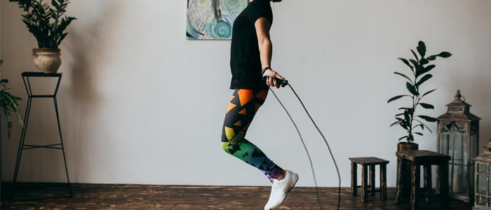 woman skipping with a rope