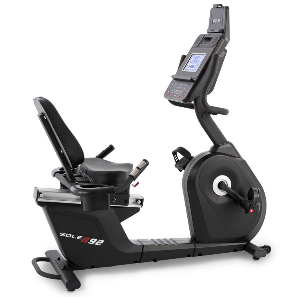 SOLE Fitness R92 Recumbent Exercise Bike with Bluetooth