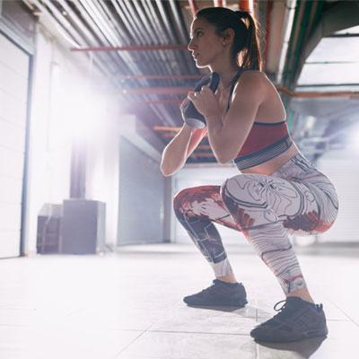 woman doing a goblin squat