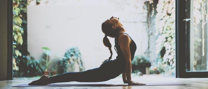 The cobra yoga pose