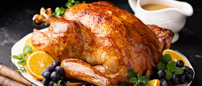 roast turkey with trimmings