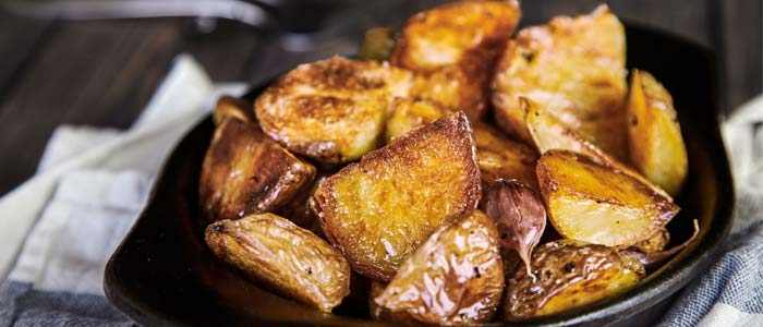 bowl of roast potatoes