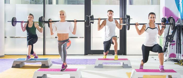 step aerobic with weights class