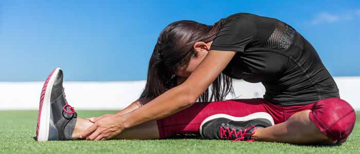 woman doing spinal stretch