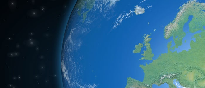Britain from space showing where eco weight plates are made