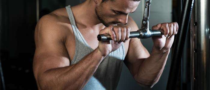 Man doing a Tricep Pulldown