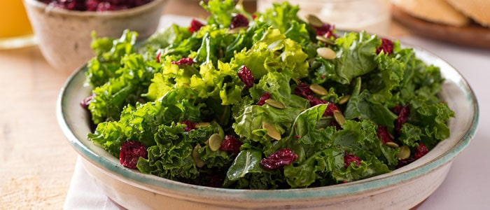 A bowl of leafy green superfoods