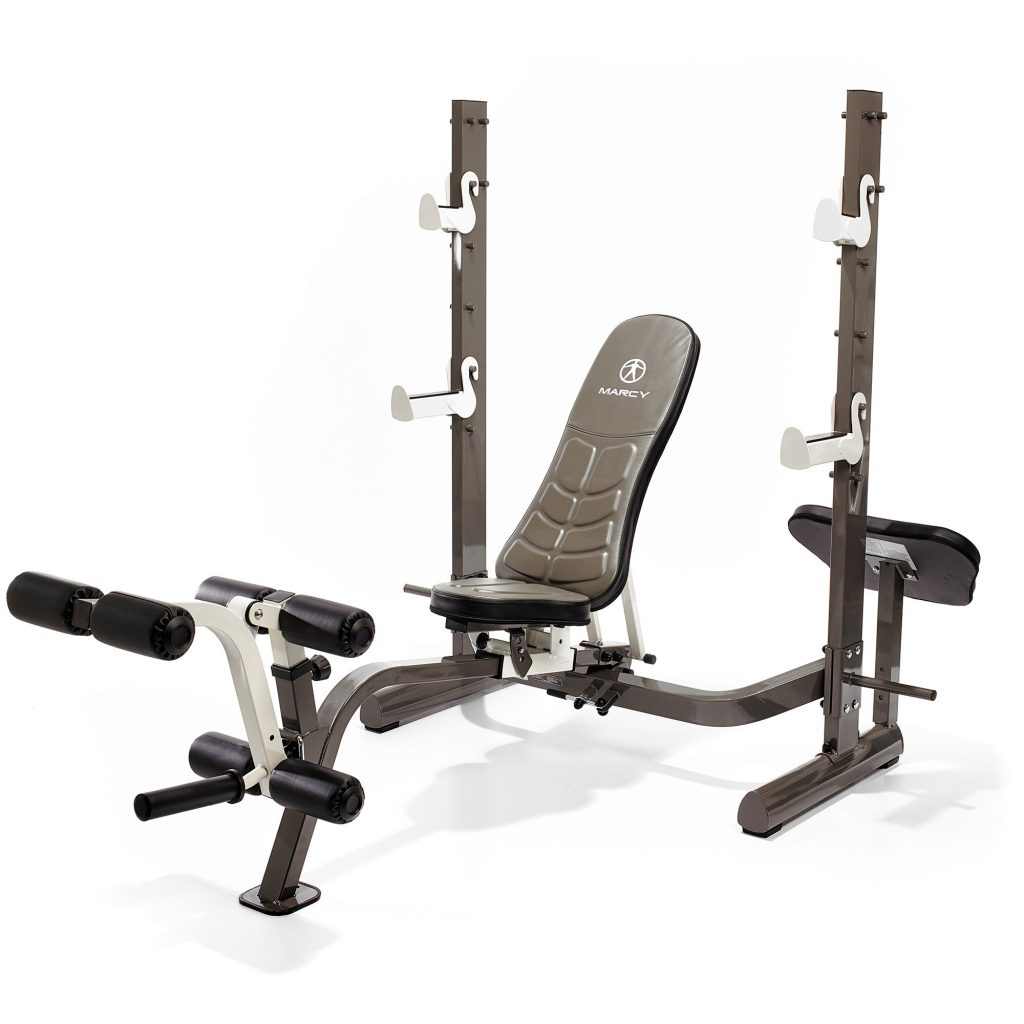 Marcy MWB-70205 Folding Olympic Weight Bench with Rack