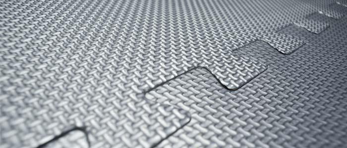 Padded floor matting
