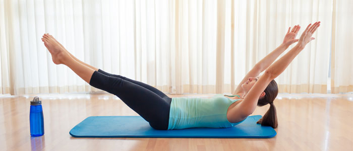 Hollow body hold ab exercise example
