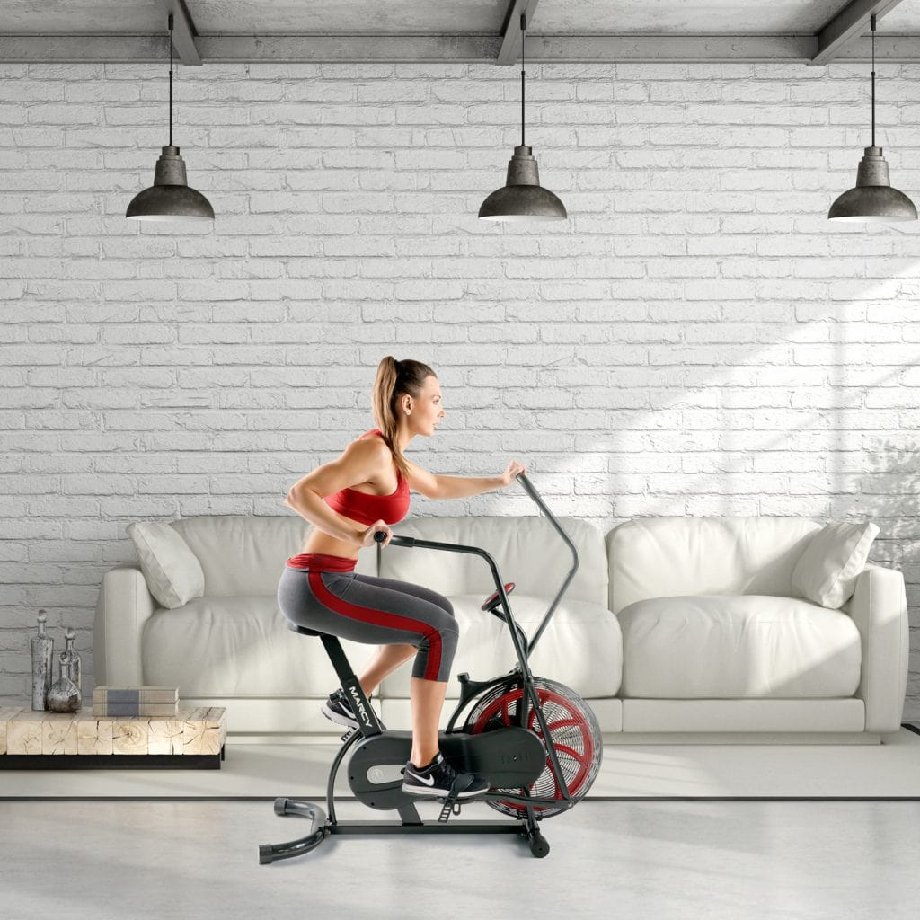 Marcy NS-1000 Dual Action Fan Exercise Bike for weight loss