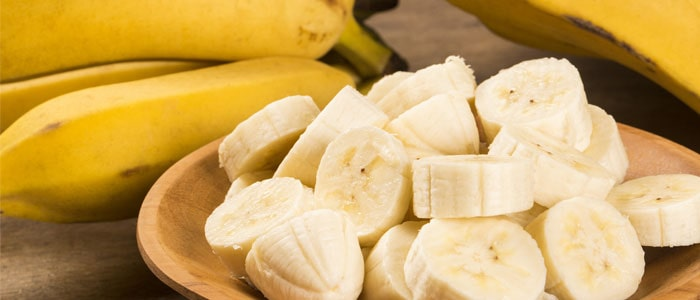 a bowl of slcied banana