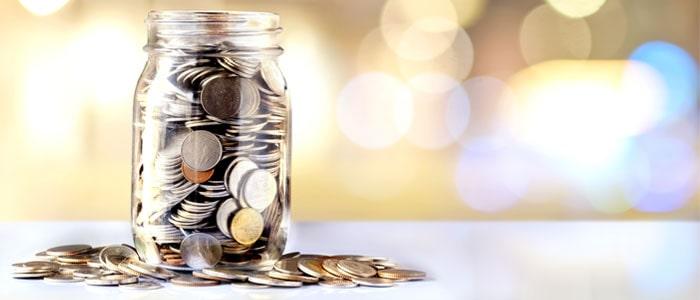 jar of money that has been raised