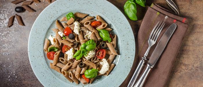 healthy wholegrain pasta dish